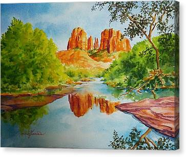 Red Rock Crossing  Canvas Print by Gracia  Molloy