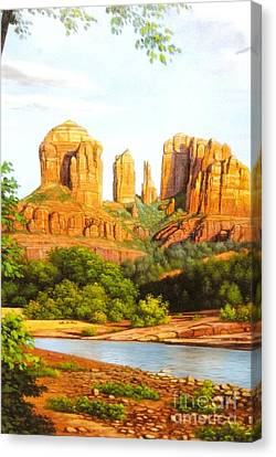 Red Rock Crossing In Sedona Canvas Print