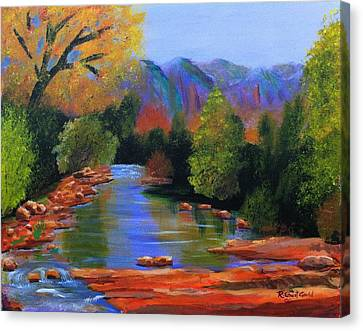 Red Rock Crossing Canvas Print by Roy Gould