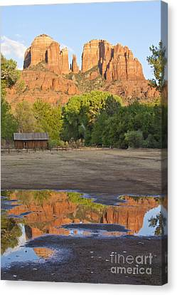Canvas Print featuring the photograph Red Rock Crossing by Ruth Jolly