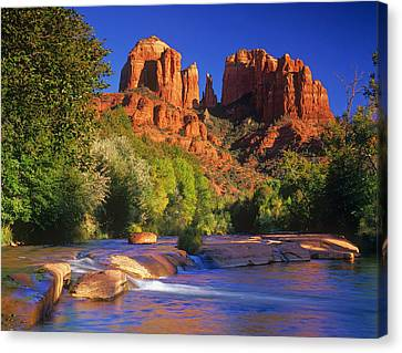 Red Rock Crossing Canvas Print by Timm Chapman