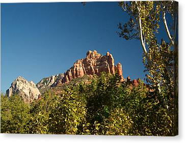 Red Rock Formations Oak Creek Canyon Sedona 2 Canvas Print by Douglas Barnett