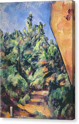 Red Rock Canvas Print by Paul Cezanne