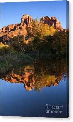 Oak Creek Canvas Print - Red Rock Reflections by Mike  Dawson