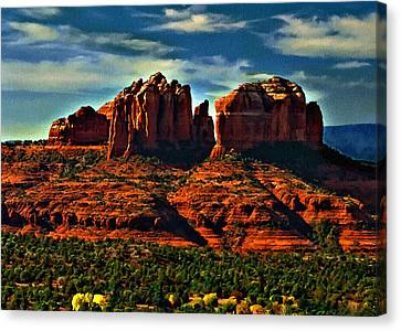 Red Rock State Park Arizona Sunrise Canvas Print by Bob and Nadine Johnston