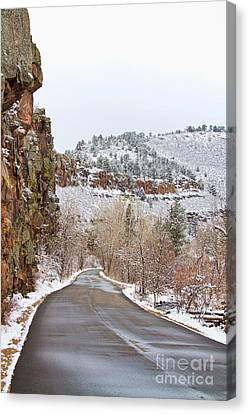 Red Rock Winter Drive Canvas Print by James BO  Insogna