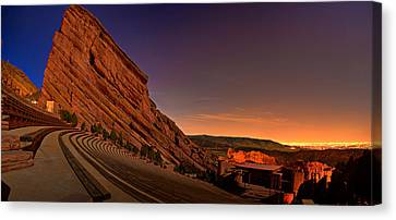 Rock Music Canvas Print - Red Rocks Amphitheatre At Night by James O Thompson