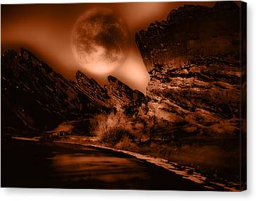 Red Rocks Canvas Print by Kellice Swaggerty