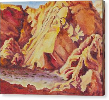 Canvas Print featuring the painting Red Rocks by Michele Myers