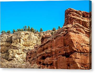 Red Rocks View 002 Canvas Print by Todd Soderstrom