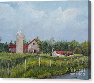 Red Roof Barns Canvas Print by Reb Frost