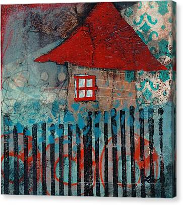 Red Roof House Canvas Print by Laura  Lein-Svencner