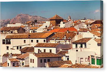 Red Roofs Of Ronda. Andalusia. Spain Canvas Print
