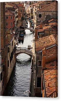 Red Roofs Of Venice Canvas Print by Georgia Mizuleva