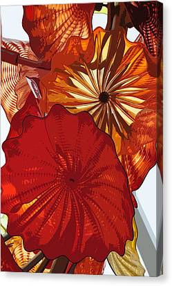 Canvas Print featuring the digital art Red Rose by Kirt Tisdale
