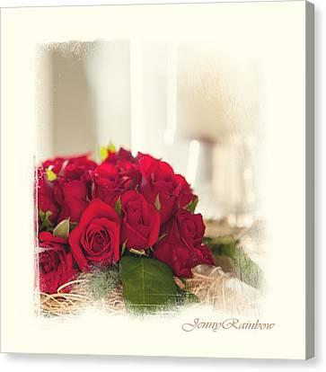 Red Rose Wish. Elegant Knickknacks From Jennyrainbow Canvas Print