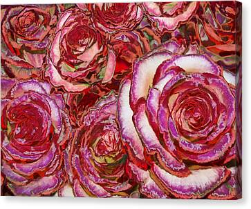 Red Roses Painting Canvas Print by Alixandra Mullins