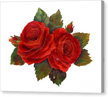 Red Roses Canvas Print by Pattie Calfy