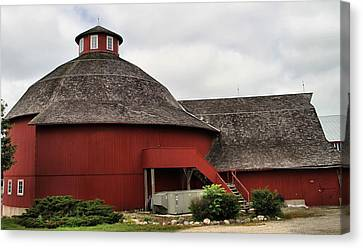 Red Round Barn Canvas Print by Dan Sproul