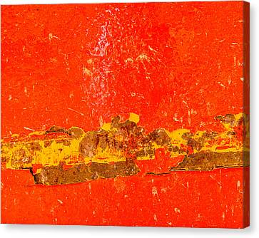 Red Rusty Backgound Canvas Print by Dutourdumonde Photography