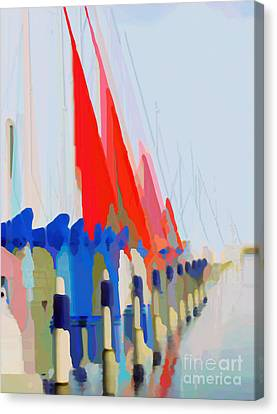Abn Canvas Print - Red Sails In The Sunset by Luc Van de Steeg