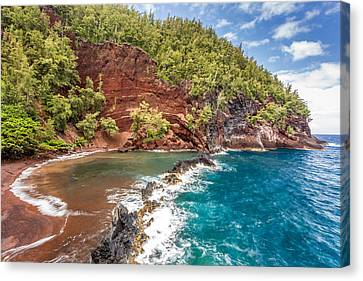 Red Sand Beach Maui Canvas Print by Pierre Leclerc Photography