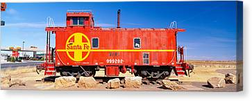 Red Santa Fe Caboose, Arizona Canvas Print by Panoramic Images