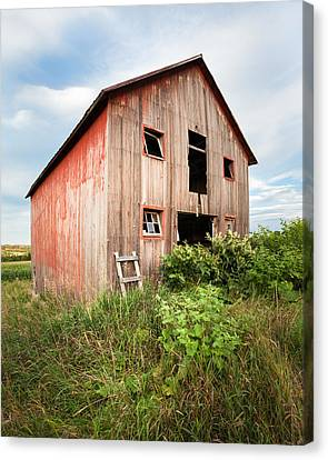 Canvas Print featuring the photograph Red Shack On Tucker Rd - Vertical Composition by Gary Heller