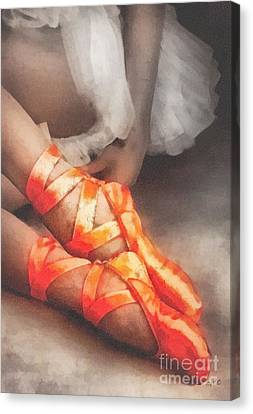 Red Shoes Canvas Print by Mo T
