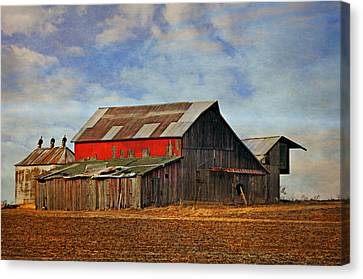 Red Side Barn Canvas Print by Marty Koch