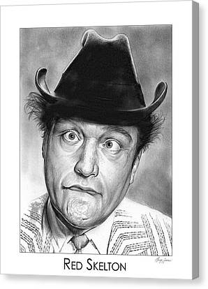 Red Skelton Canvas Print by Greg Joens