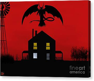Red Sky At Night... Canvas Print by Andy Heavens