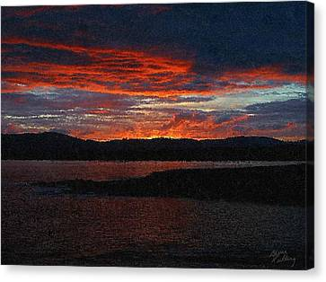 Red Sky At Night Canvas Print by Bruce Nutting
