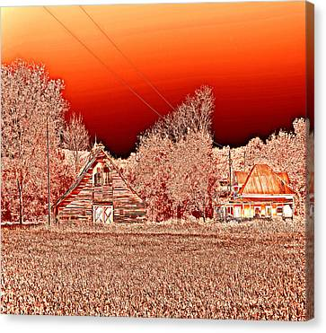 Red Sky At Night Canvas Print by Marilyn Holkham