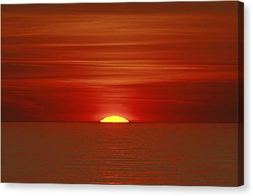 Red Sky At Night Canvas Print by Michael Allen
