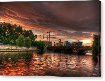 Red Sky At Night Canvas Print by Nathan Wright