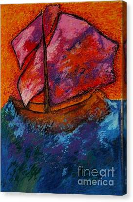 Red Sky At Night Sailors Delight Canvas Print