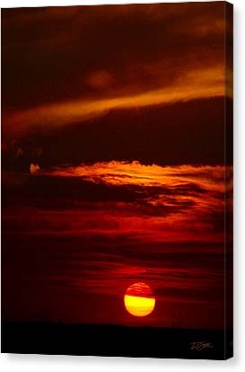 Red Sky At Night Vertical Canvas Print by Rod Seel