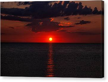 Red Sky At Sunrise 1 Canvas Print