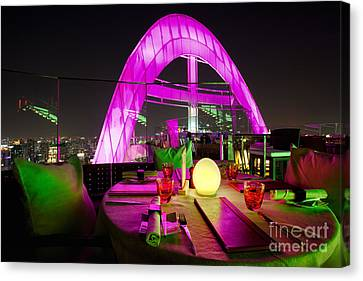 Red Sky Bar Bangkok Rooftop Bar Canvas Print by Fototrav Print