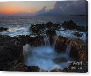 Red Sky Cauldron Canvas Print
