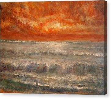 Red Sky Marine Canvas Print