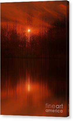 Red Sky Sunset Canvas Print by Tom York Images