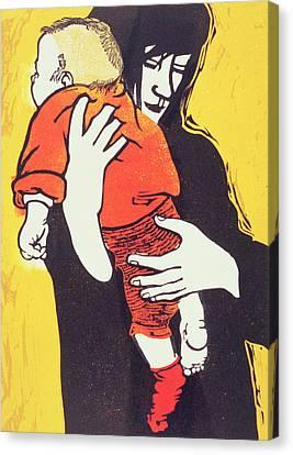Red Sock Canvas Print by Carol Walklin