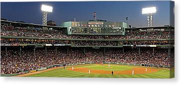 Pitcher Canvas Print - Red Sox And Fenway Park  by Juergen Roth