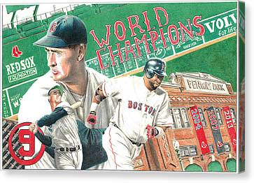Red Sox World Champions Canvas Print