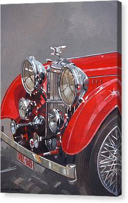 Red Sp 25 Alvis  Canvas Print by Peter Miller