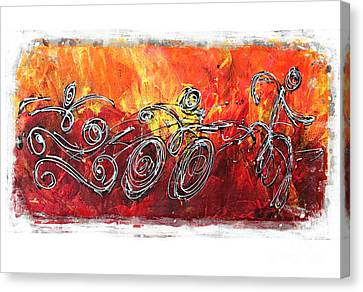 Red Splash Triathlon Canvas Print by Alejandro Maldonado