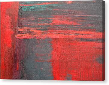 Red Square Dissected I  C2010 Canvas Print by Paul Ashby