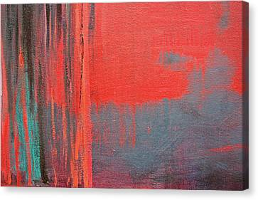 Red Square Dissected Iv  C2010 Canvas Print by Paul Ashby